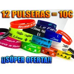 ¡MEGA PACK 12 PULSERAS LR!