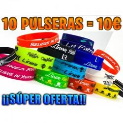 ¡MEGA PACK 10 PULSERAS LR!